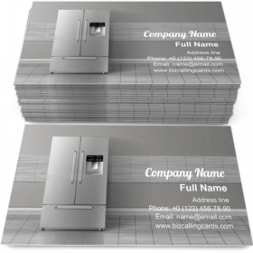 Two-Chambered Refrigerator Business Card Template