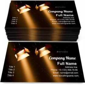 Two theatre spotlights Business Card Template