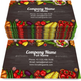 Various Vegetables Business Card Template