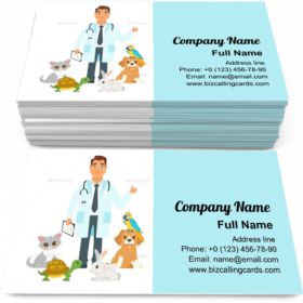 Veterinarian with Home Pets Business Card Template