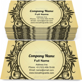 Victorian style design Business Card Template