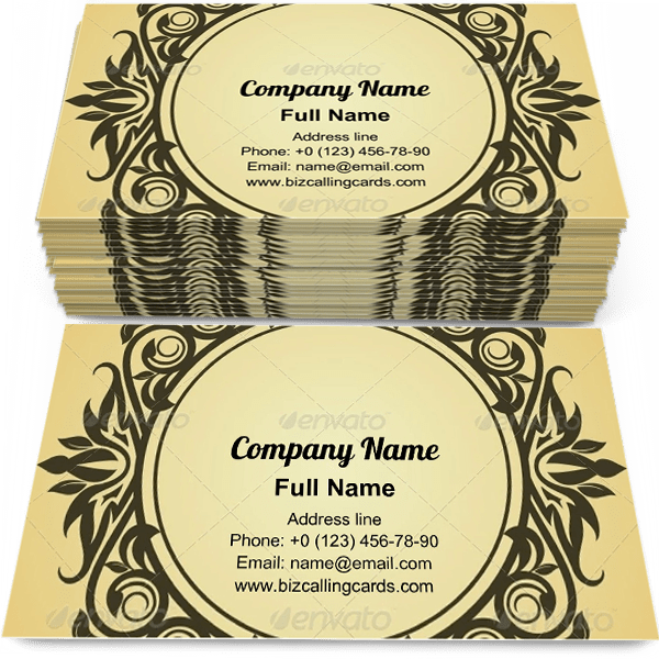 Sample of Victorian style design business card design for advertisements marketing ideas and promote elegance branding identity