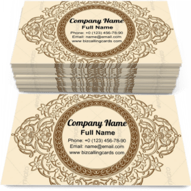 Vintage Floral Circle Business Card Template