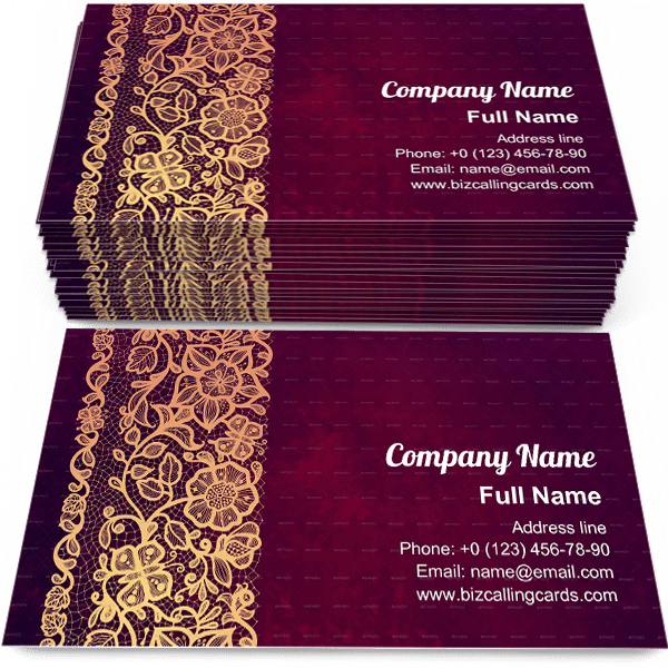 Sample of Vintage Lace Doily calling card design for advertisements marketing ideas and promote decoration branding identity