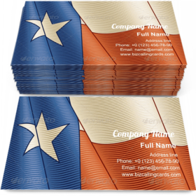 Vintage Texas Flag Business Card Template