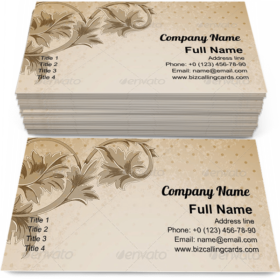 Vintage floral ornament Business Card Template