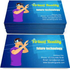 Virtual Augmented Reality Business Card Template