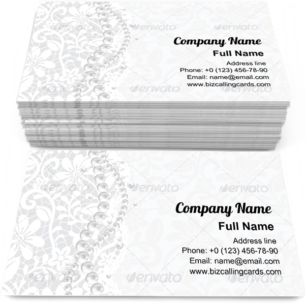 Example of White background Business Card Template
