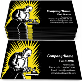 Welder Metal Worker Business Card Template