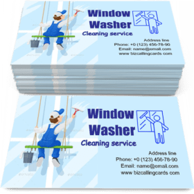 Window Washer Business Card Template
