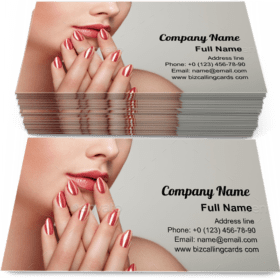 Woman with perfect makeup Business Card Template
