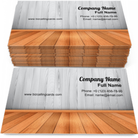 Wooden Wall and Floors Business Card Template