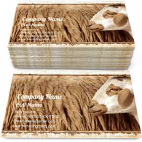 Wool sheep in farm Business Card Template