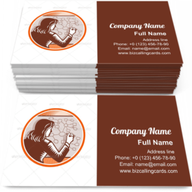 Writing Mind Mapping Business Card Template