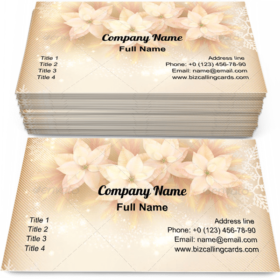 Xmas decorations Business Card Template