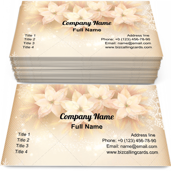 Sample of Xmas decorations business card design for advertisements marketing ideas and promote New Year Celebration branding identity