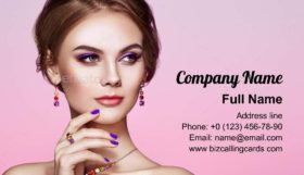 Beautiful Woman with Jewelry Business Card Template