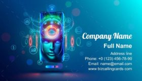 AI in Phone Business Card Template