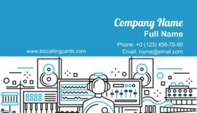 Sound Production Business Card Template