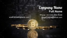Bitcoins and new virtual money Business Card Template