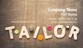 Tailor word on fabric Business Card Template