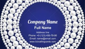 Circle Pearl Necklace Business Card Template