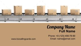 Delivery and packaging service Business Card Template