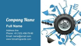 Multi Tractor Wheel Business Card Template