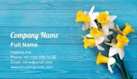 Daffodils bouquet Business Card Template