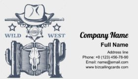 Wild West sheriff Business Card Template