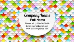 Colorful Paper Circles Business Card Template
