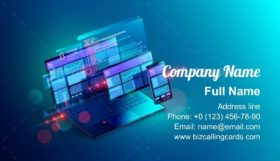 Coding Cross Platform Business Card Template