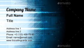 Dark Blue Tech Business Card Template
