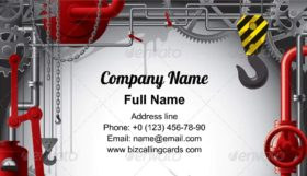 Engineering with gears Business Card Template