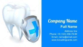 Tooth and Shield Protection Business Card Template