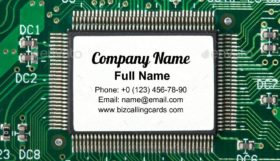 Electronic microprocessor Business Card Template