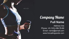 Sports practice Business Card Template