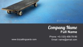 Skateboard Activity Business Card Template
