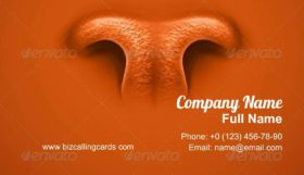 Animal's Nose Business Card Template