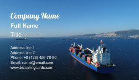 Cargo Ship Sailing Business Card Template