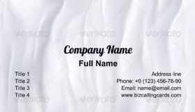 Crumpled Paper Business Card Template