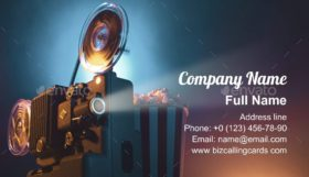 Vintage film projector Business Card Template