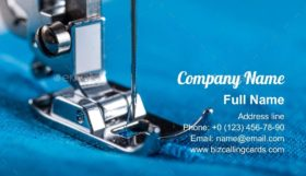 Electric sewing machine Business Card Template
