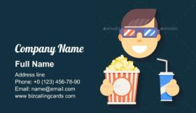 Cinema 3D Glasses Business Card Template