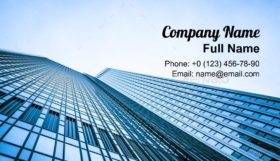Modern glass of skyscrapers Business Card Template