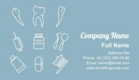 Dental icons set Business Card Template
