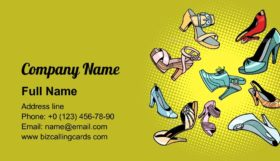 Fashionable Womens Shoes Business Card Template