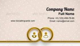 LifeLine with Wedding rings Business Card Template