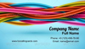 Abstract electric cable Business Card Template