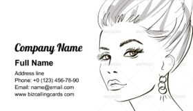 Beauty girl face Business Card Template